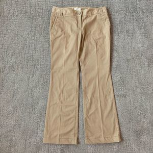 LOFT Marisa Fit Tan Flare Slacks Size 4p